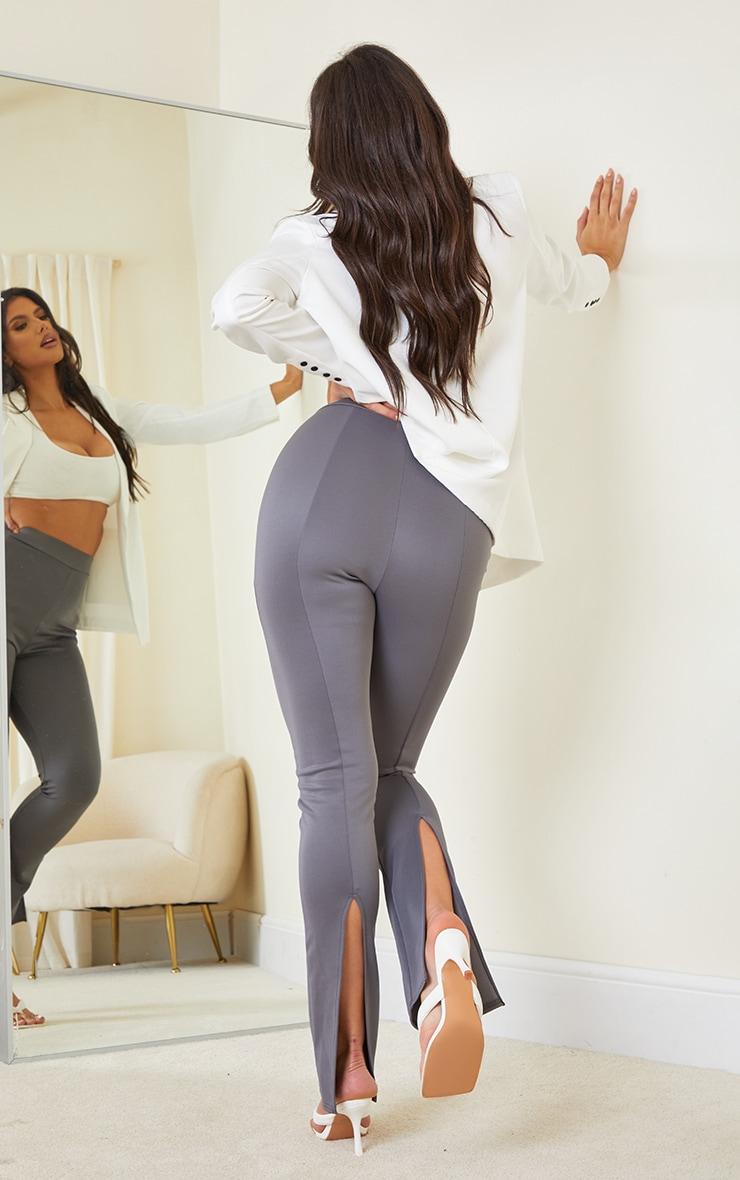 Tall Grey Back Split Hem Pants 1