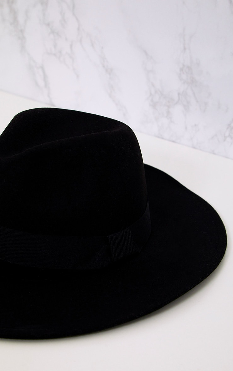 Basic Black Fedora Hat 5