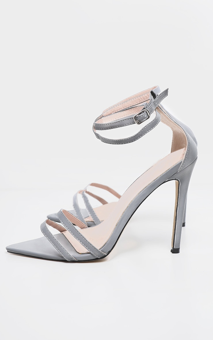 Reflective Point Toe Strappy Sandal 3