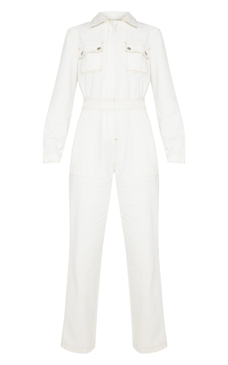 Ecru Denim Boilersuit 3