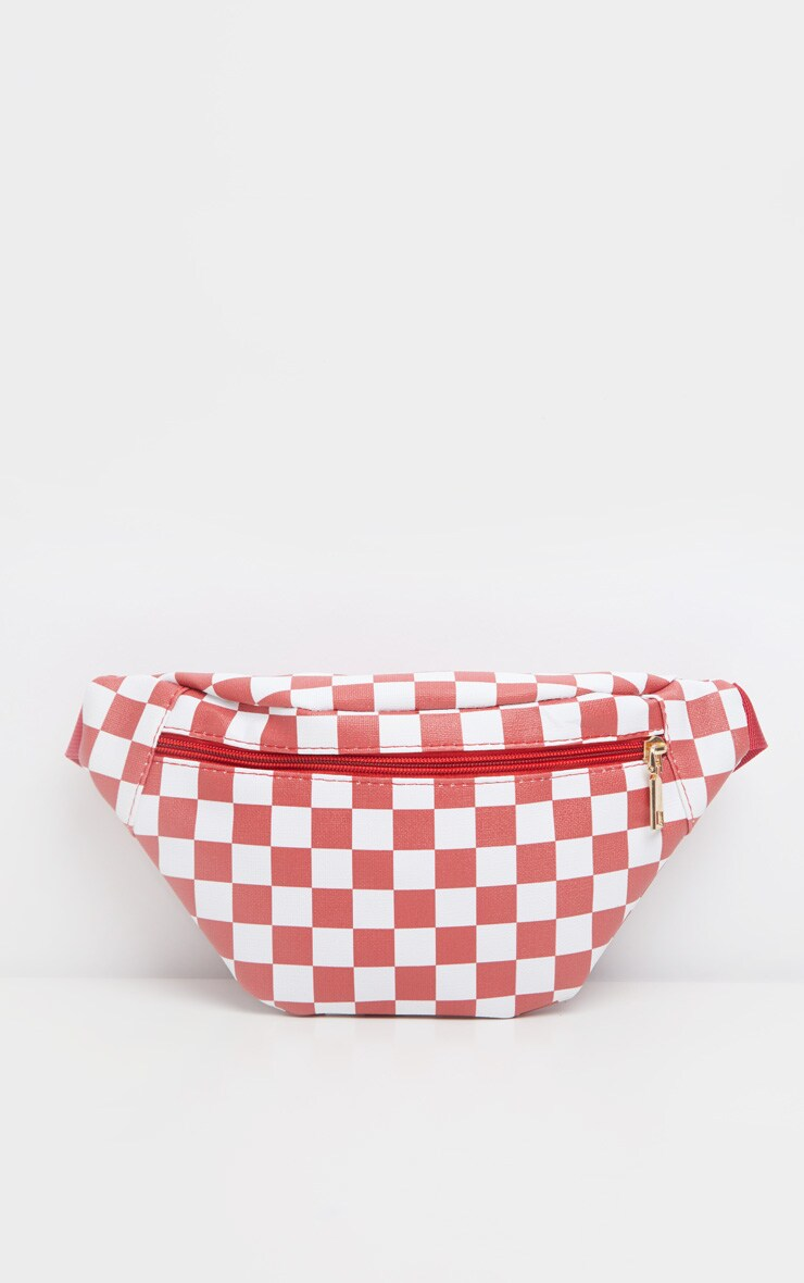 Red Checkerboard Bum Bag 2