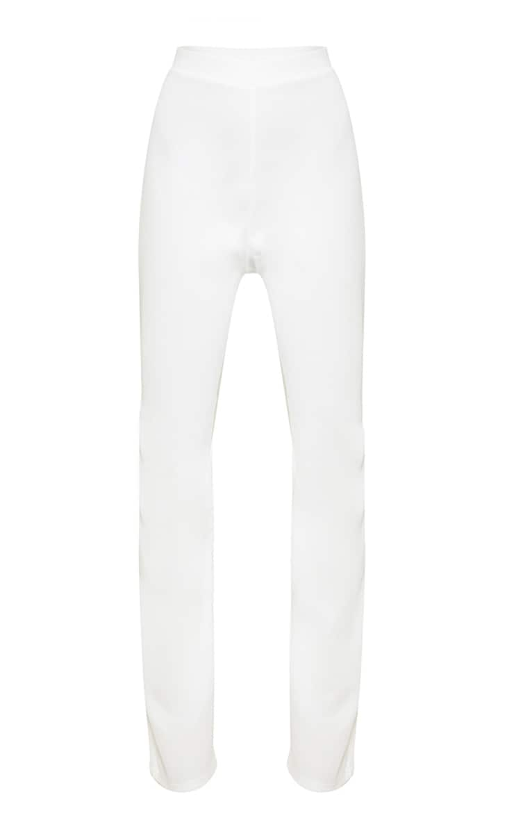 White High Waisted Flare Pants 3