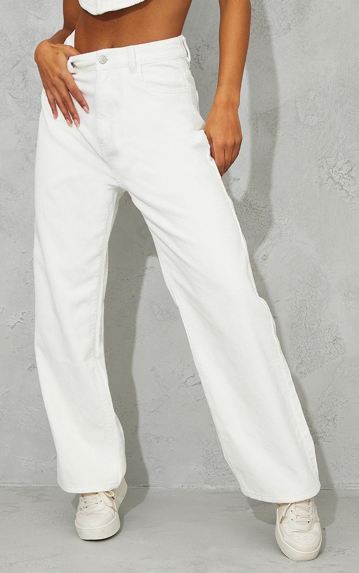 White High Waist Baggy Boyfriend Jeans 2