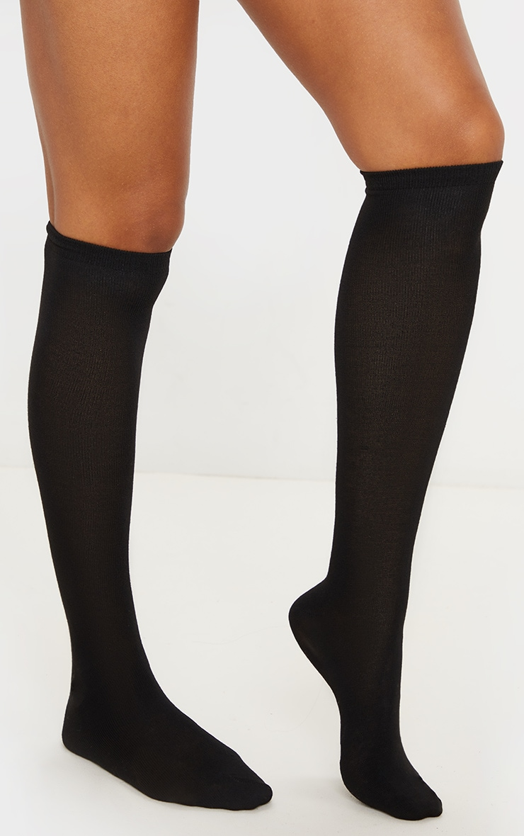 Black Over The Knee Socks Three Pack 2