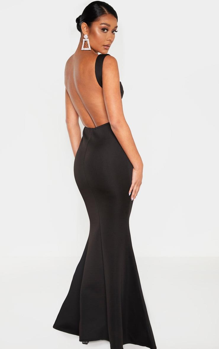 Black Strappy Square Neck Maxi Dress 2