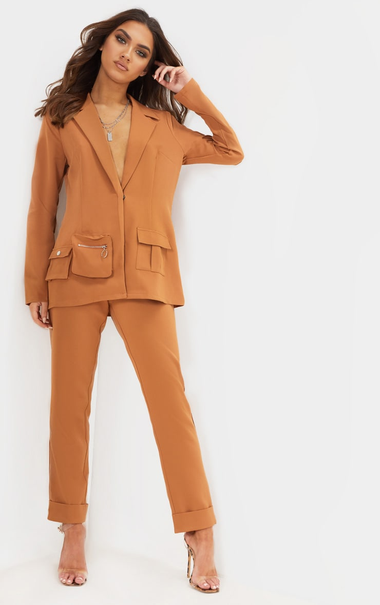 Tan Straight Leg Trouser 1