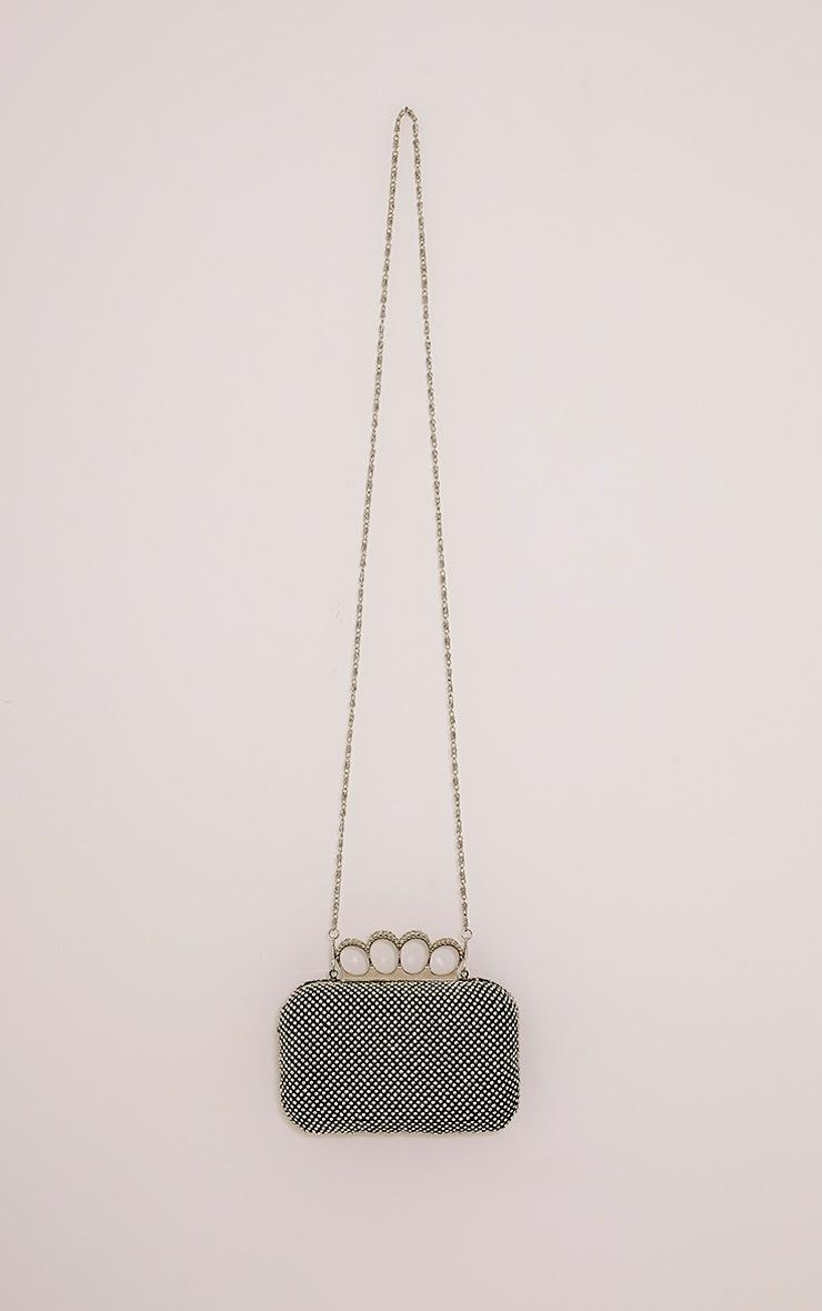 Noa Black Crystal Knuckle Duster Clutch Bag 4