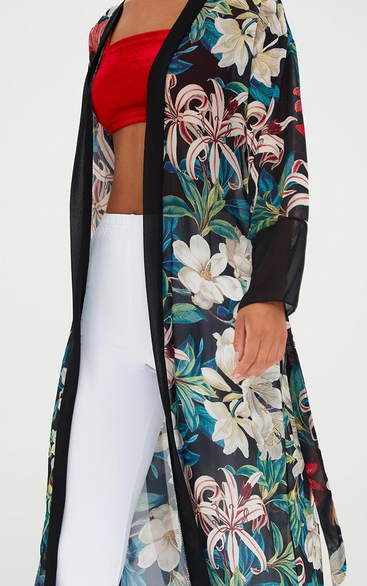 Black Floral Kimono 5