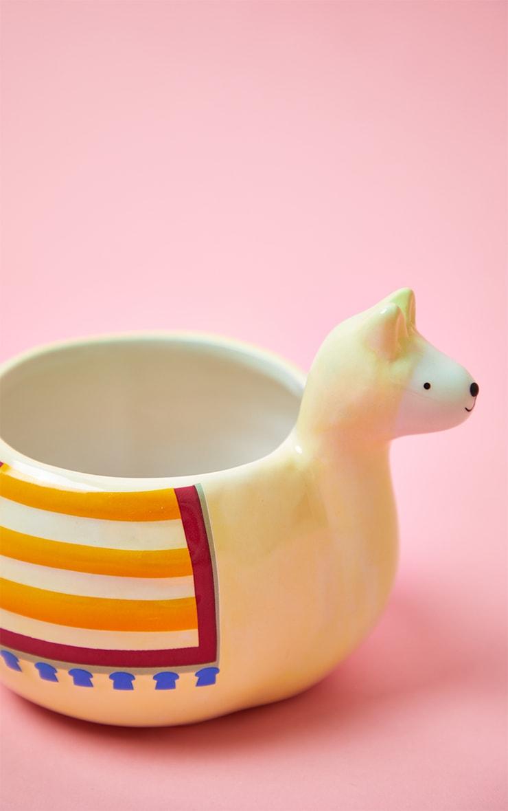 Cream Llama Mug 4