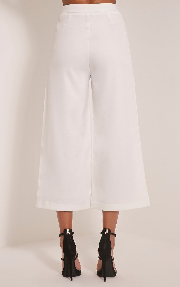 Sabine Cream Button Detail Culottes 4