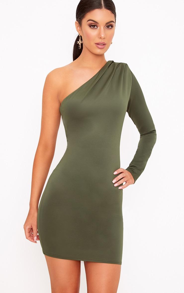 Brown One Shoulder Dress