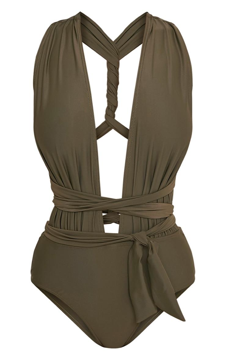 Amanda Khaki Multiway Swimsuit 3