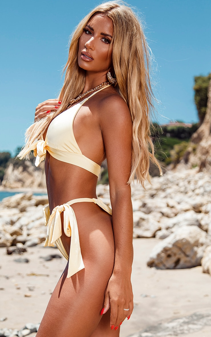 Lemon Bow Tie Side Bikini Bottoms 2