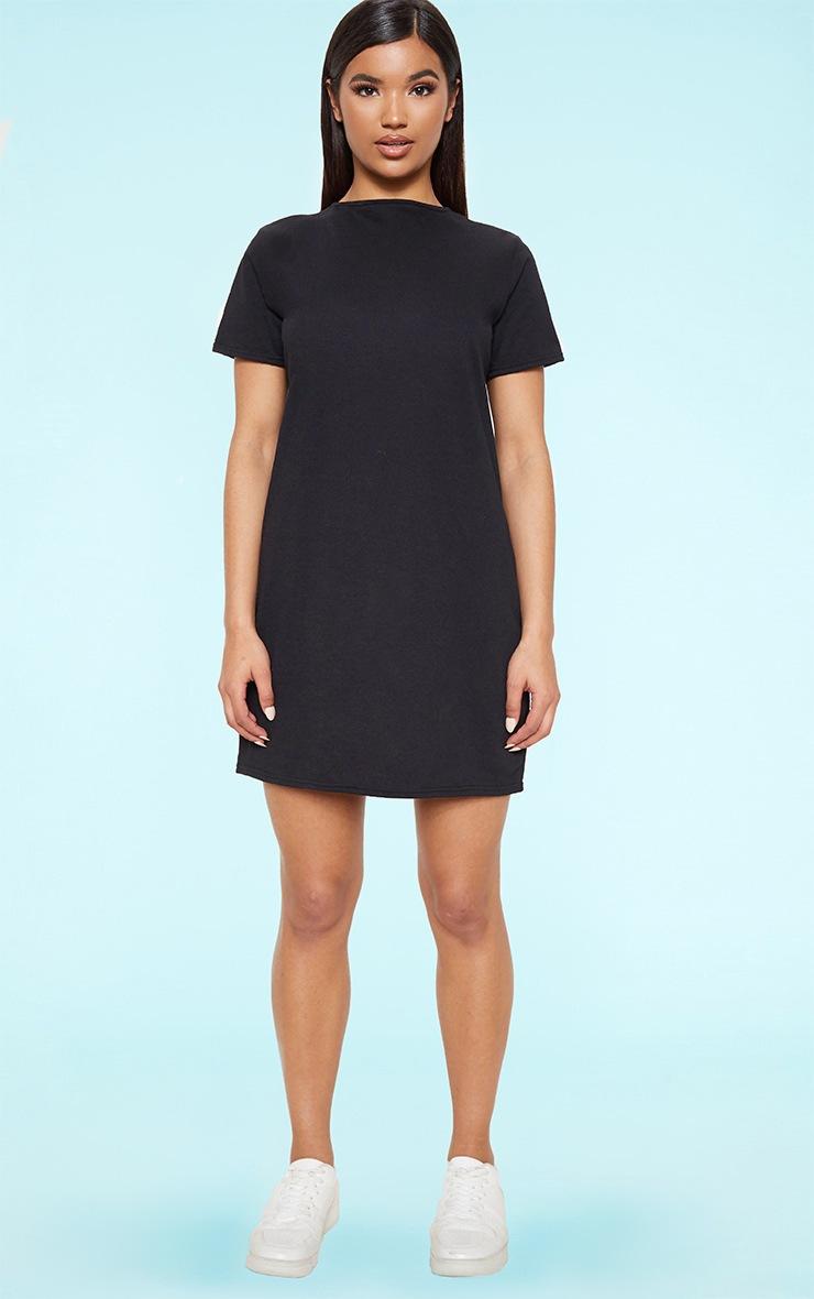 RECYCLED Black T Shirt Dress 3