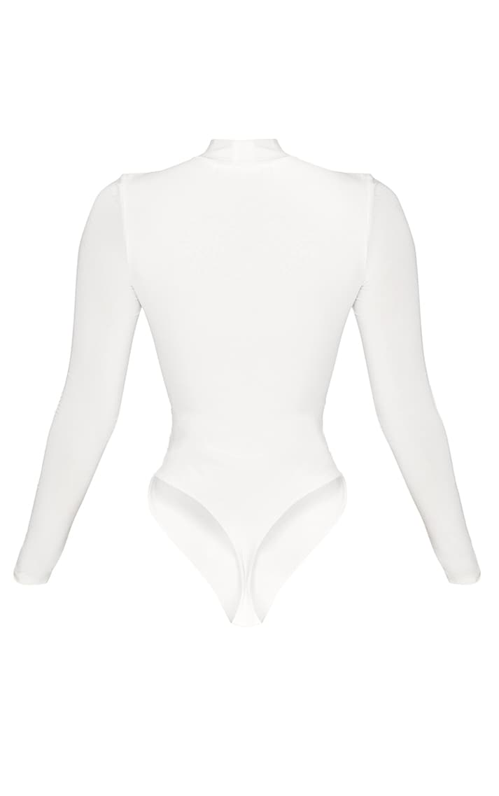Shape White Corset Seam Detail Bodysuit 4
