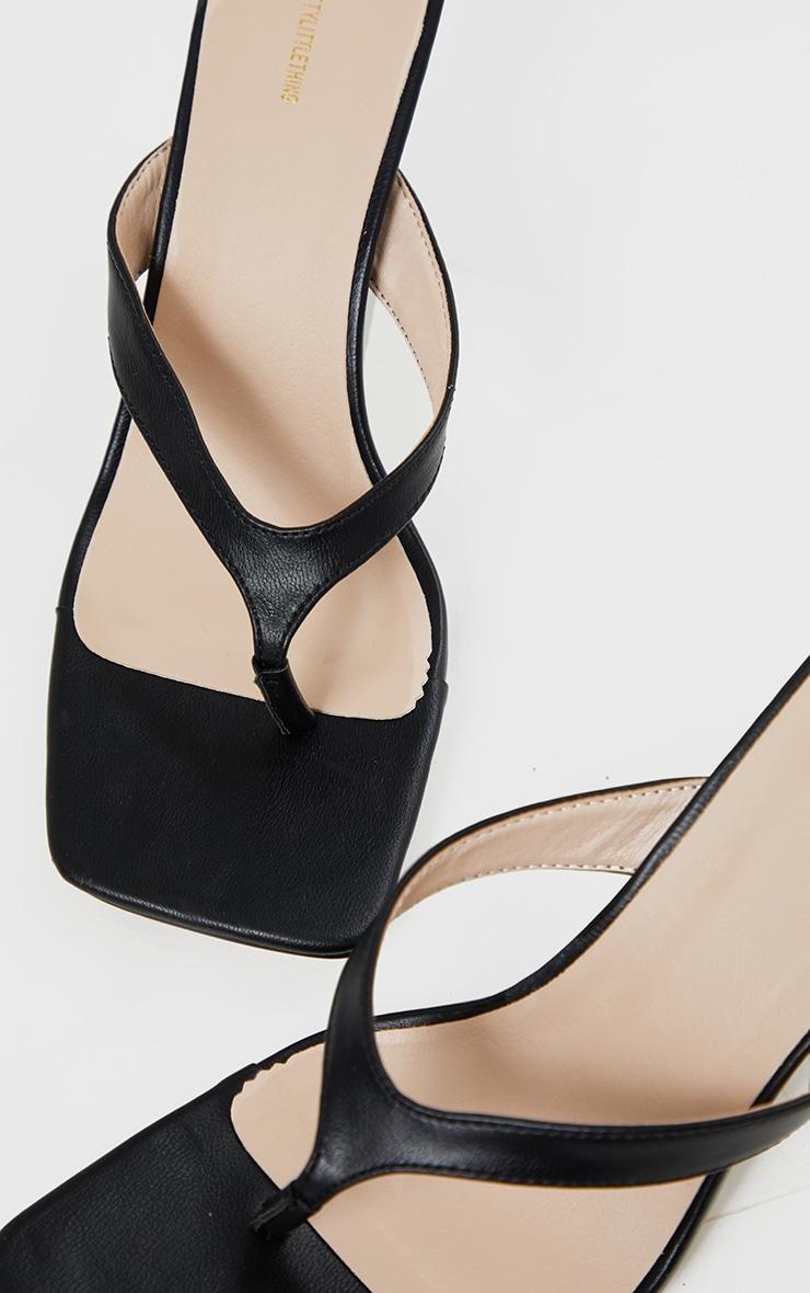 Black Toe Thong Mule Heel 4
