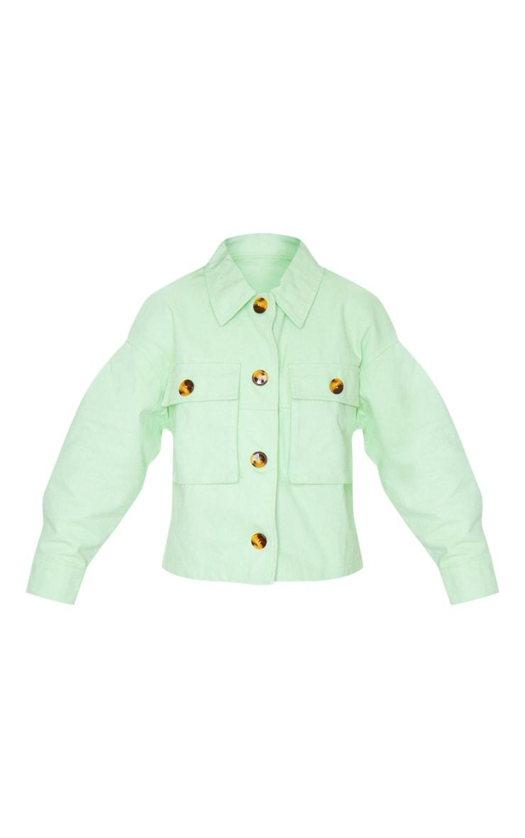 Petite Sage Green Cord Oversized Jacket 5