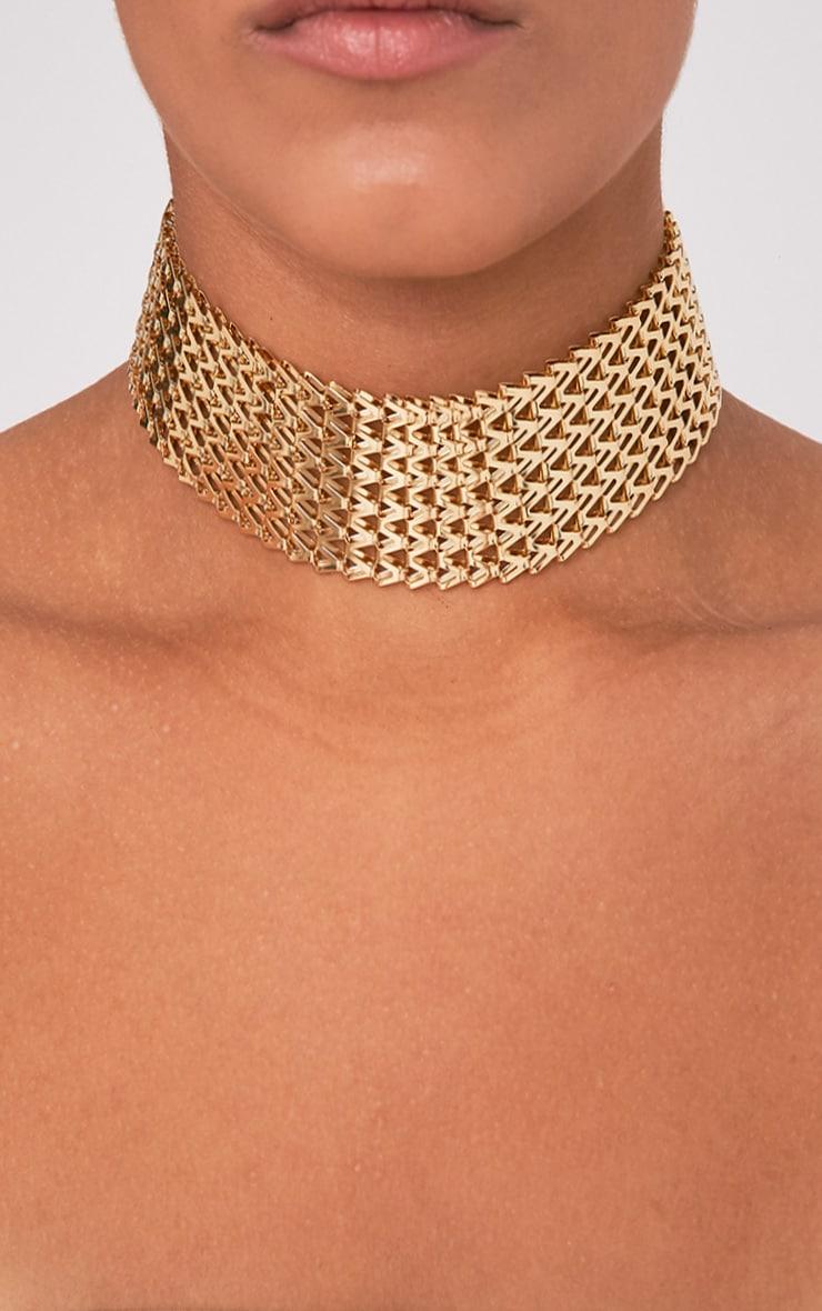 Klia Gold Chain Choker 1
