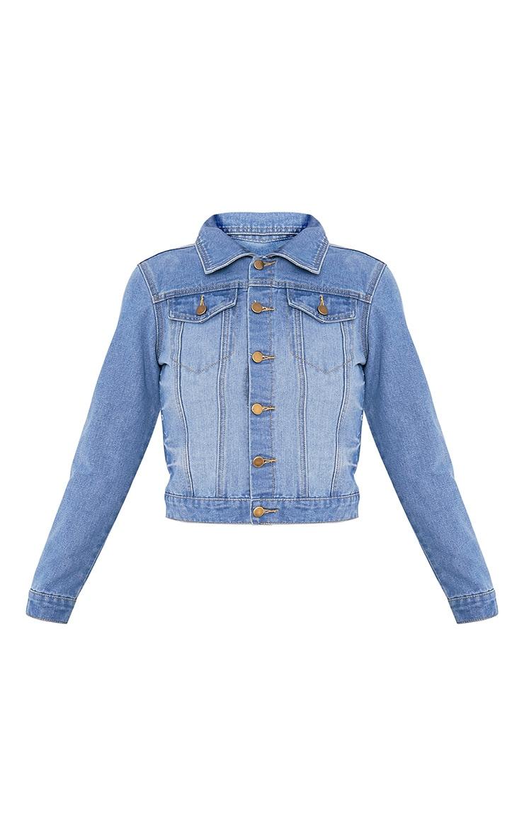 Kathleen Light Wash Crop Denim Jacket 3