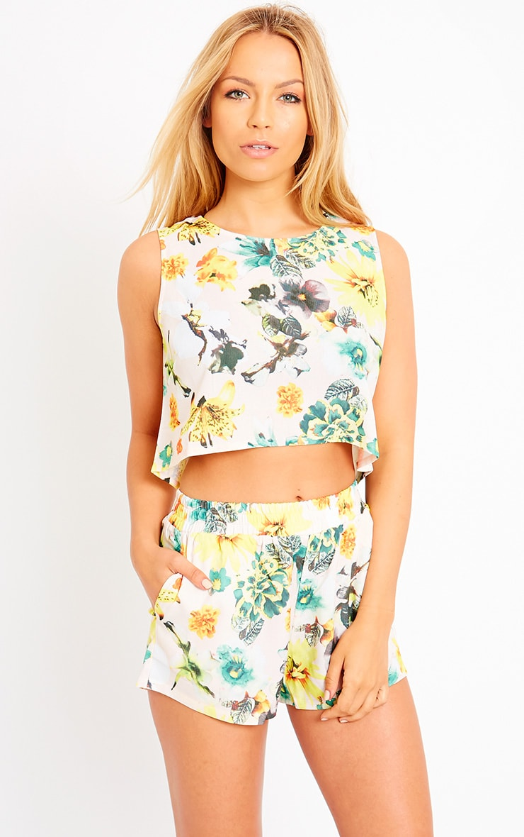 Darby Floral Print Crop Top 1