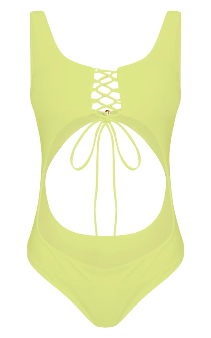 Talitha Lime Extreme Cut Out Swimsuit 3