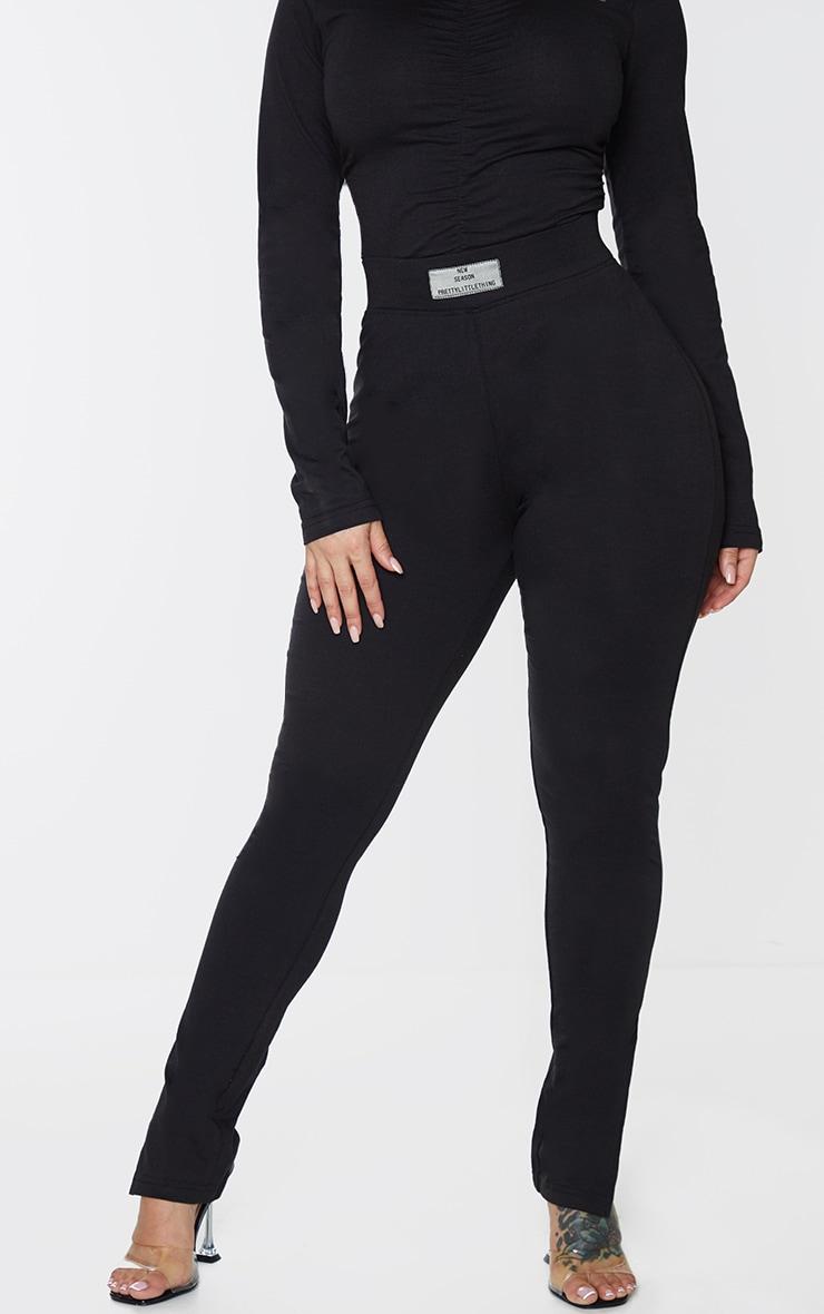 PRETTYLITTLETHING Shape Black New Season Ruched Bum Leggings 2