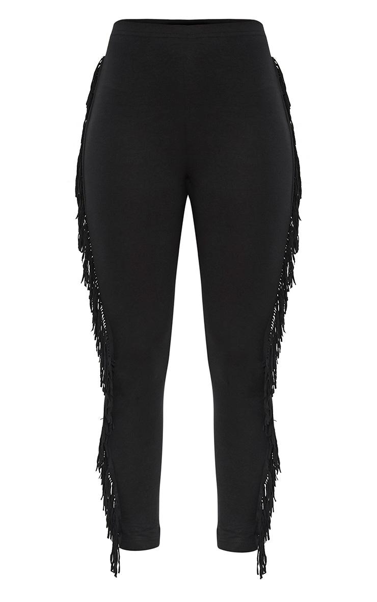 Cherise Black Fringe Leggings 3