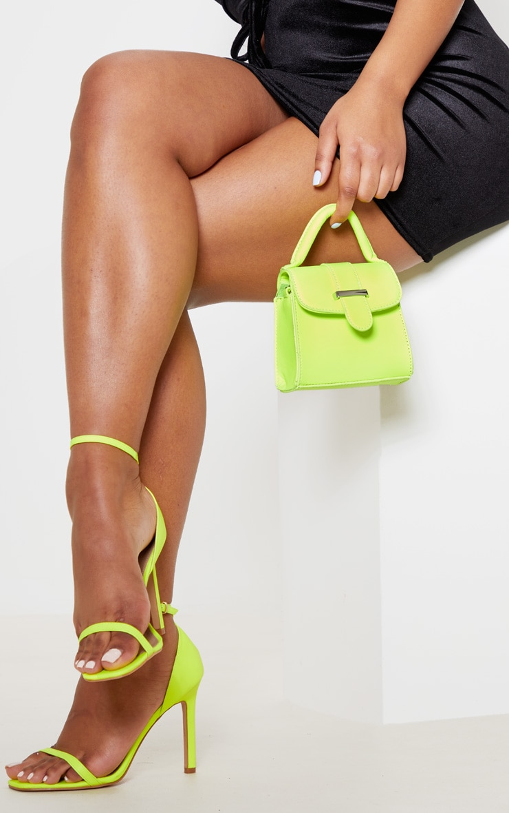Neon Lime One Handle Mini Grab Bag 1
