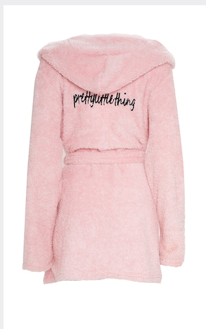PRETTYLITTLETHING Pink Fluffy Dressing Gown image 5
