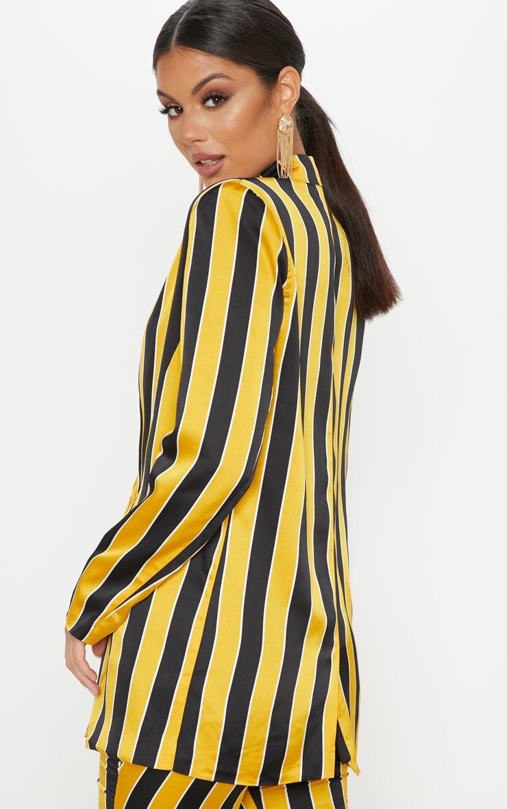 Yellow Stripe Blazer  2
