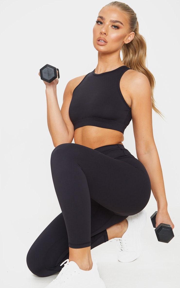Black Sculpt Luxe Cropped Gym Legging 1