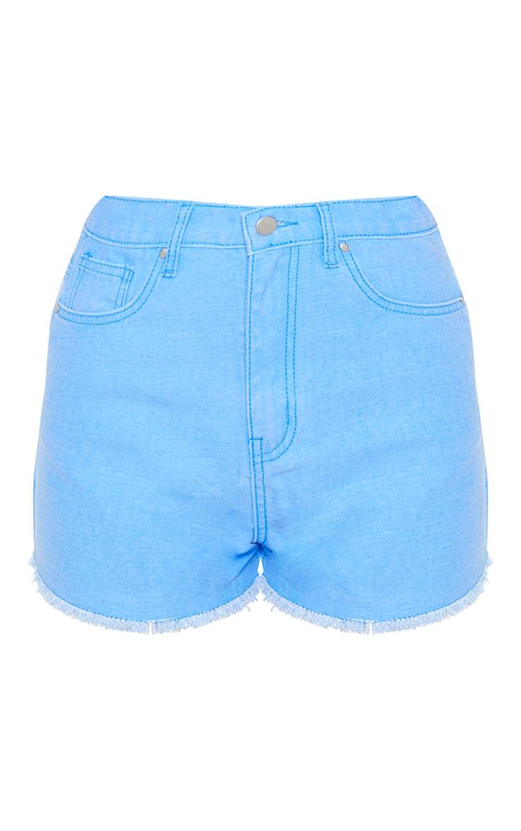 Bright Blue Denim Shorts  3
