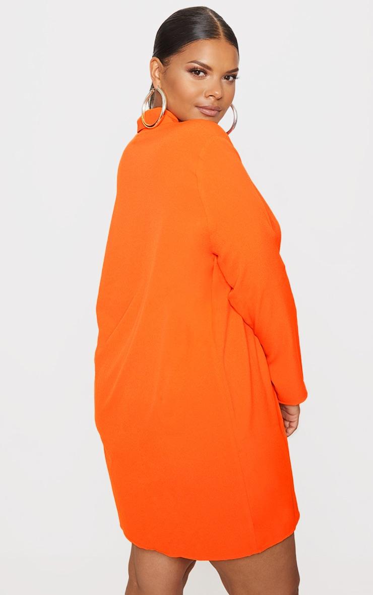 Plus Orange Oversized Blazer Dress 2