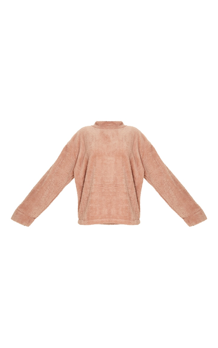 Rose High Neck Borg Sweater 3