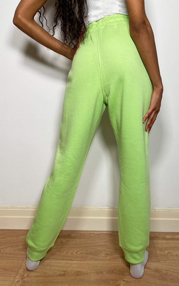 PRETTYLITTLETHING Lime Logo Joggers 3