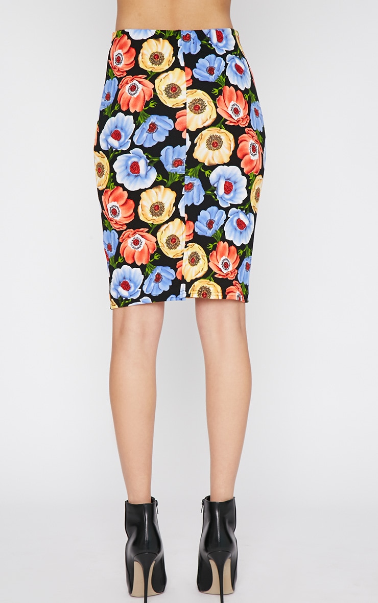 Jennie Multi Print Poppy Midi Skirt -S/M 2