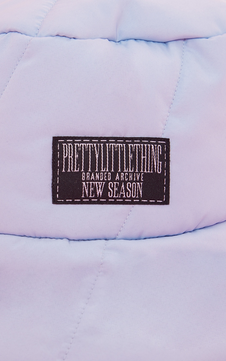 PRETTYLITTLETHING Baby Blue Quilted Bucket Hat 3