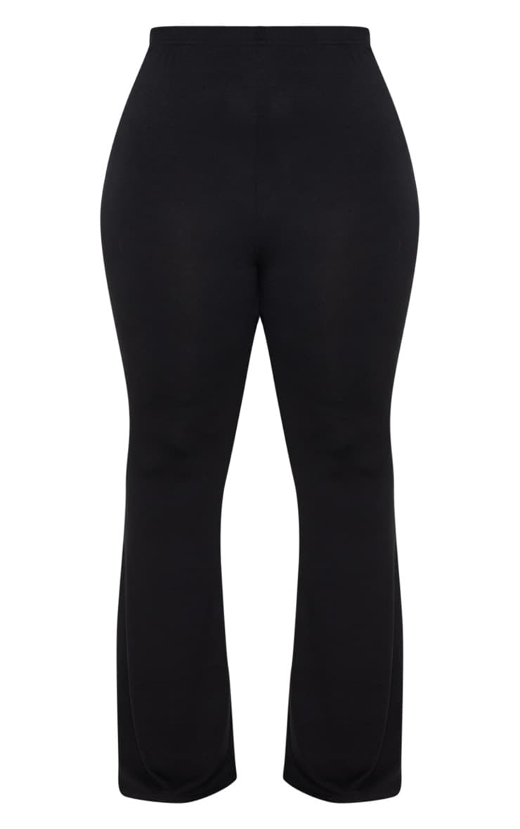 Plus Black Basic Flared Trousers 3