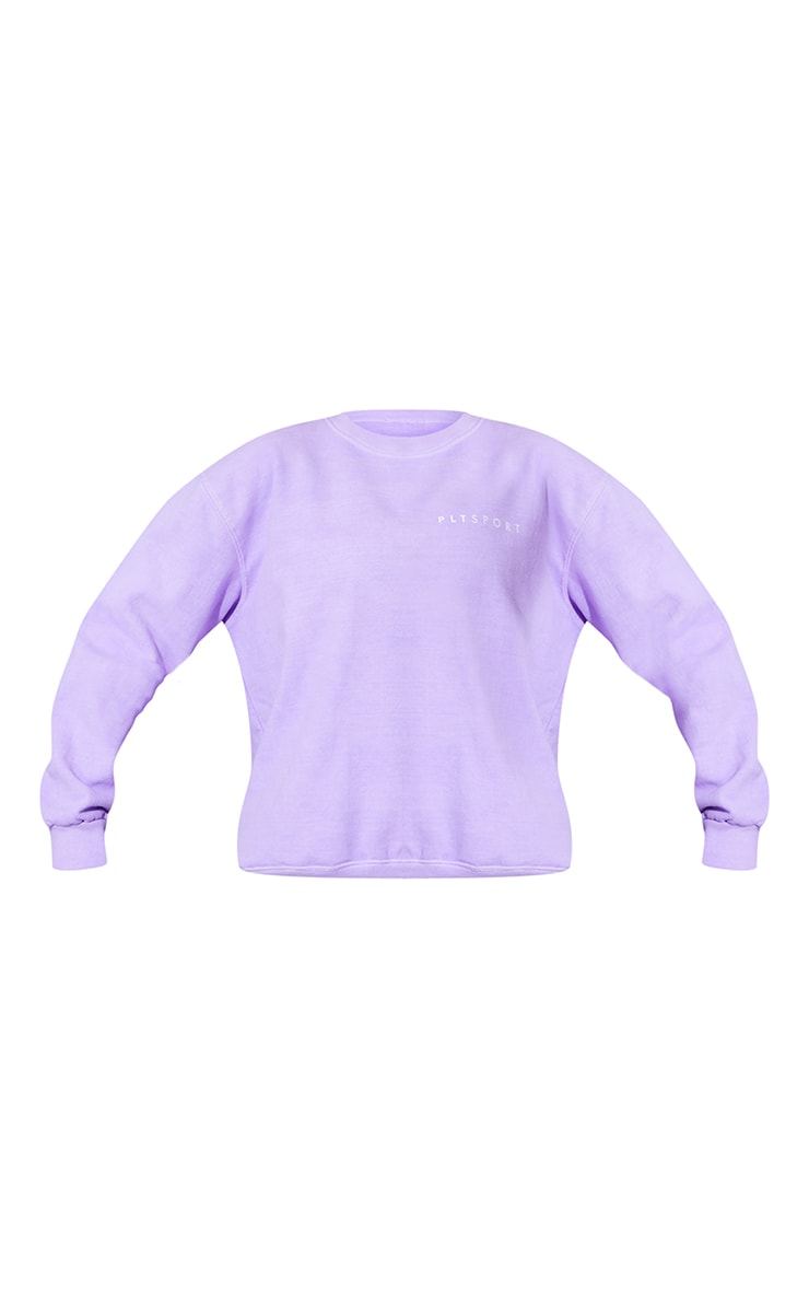 PRETTYLITTLETHING Lilac Washed Oversized Sweater 5