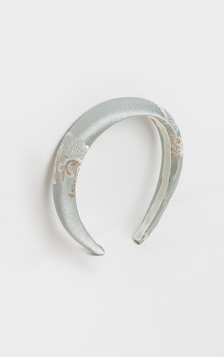 Sage Green Oriental Headband 2