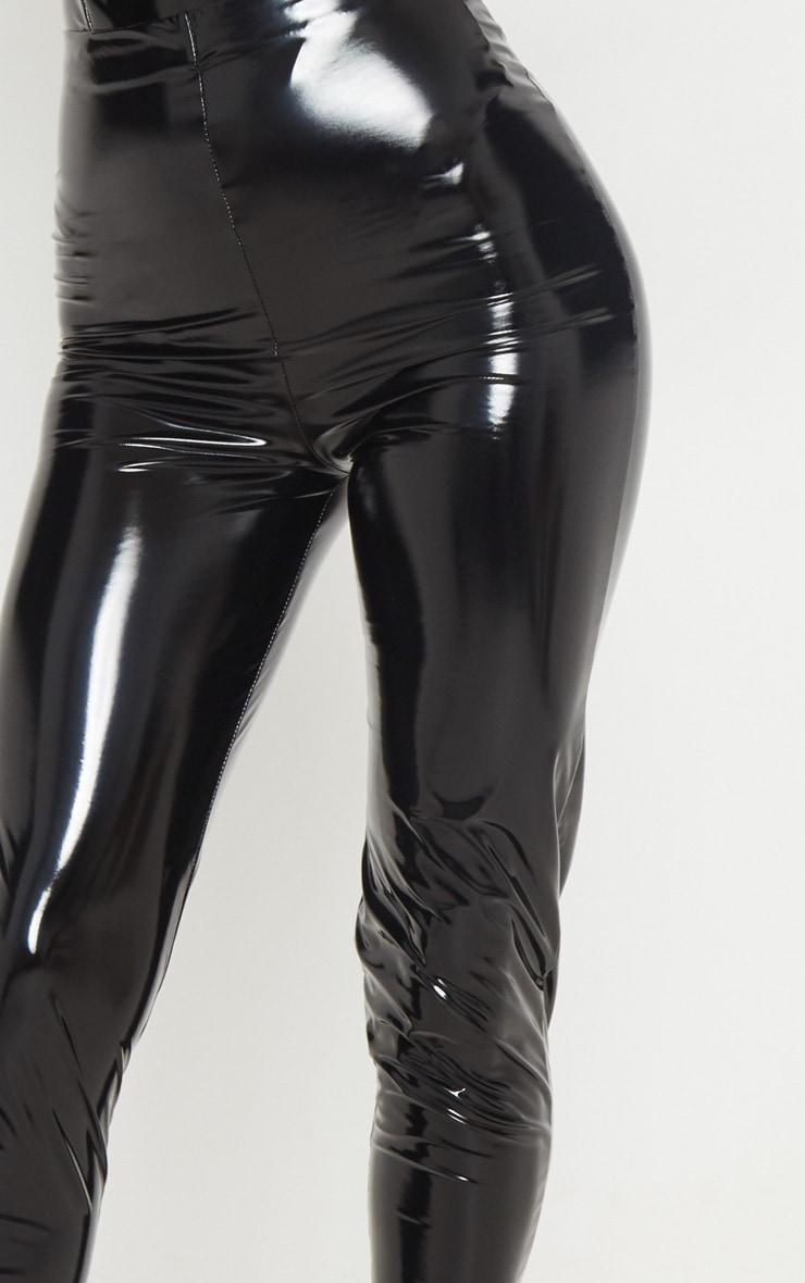 Black High Waisted Vinyl Legging 5