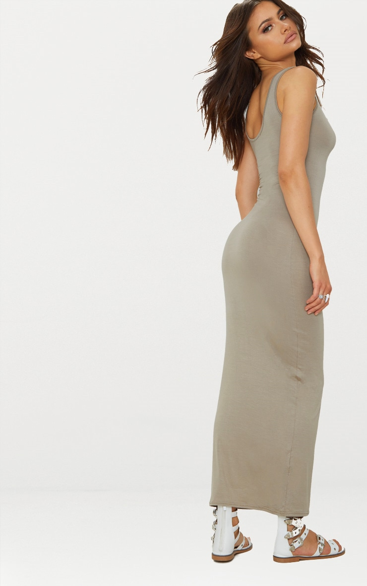 Taupe Basic Maxi Dress 2