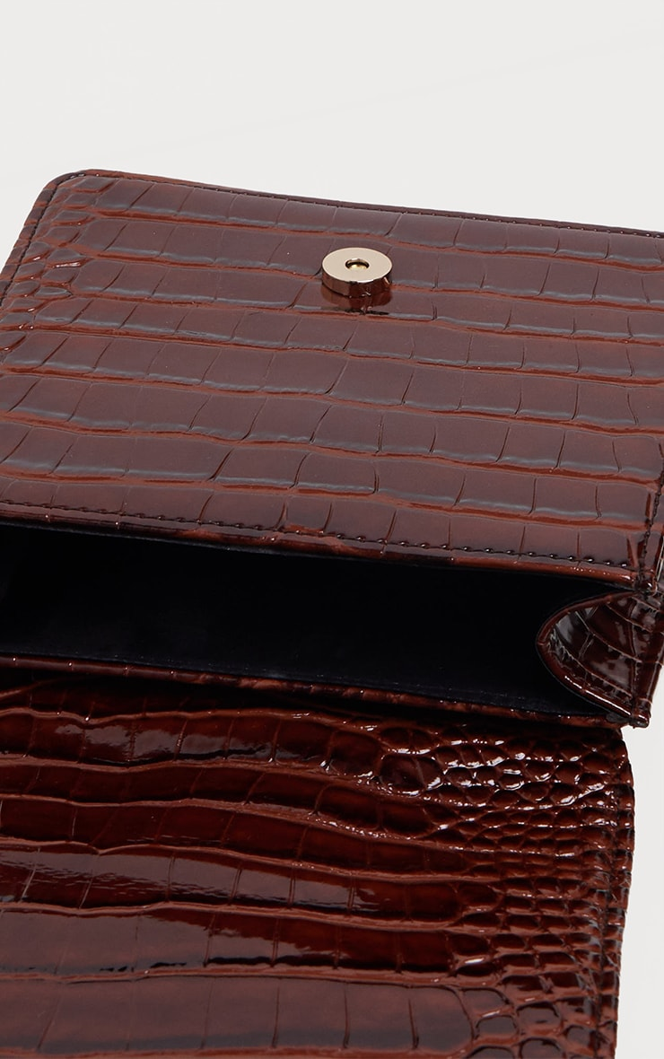 Choc Patent Croc Front Buckle Mini Bag 4