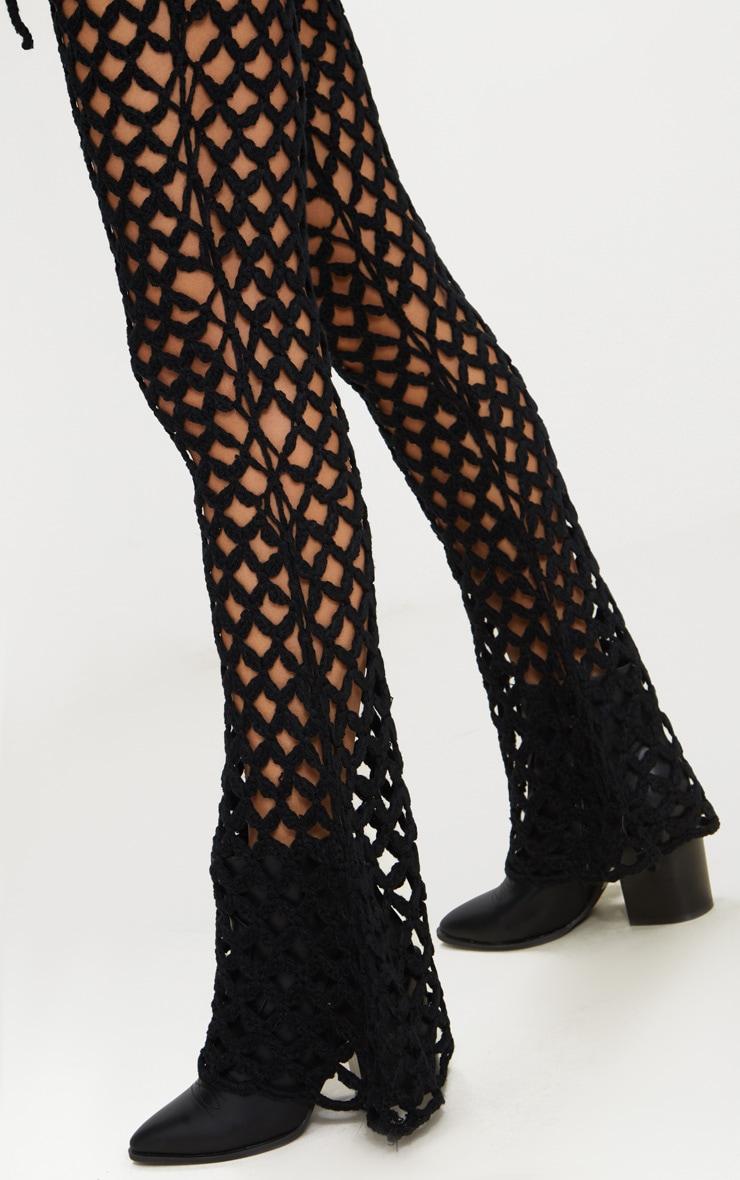 Black Crochet Flares 4
