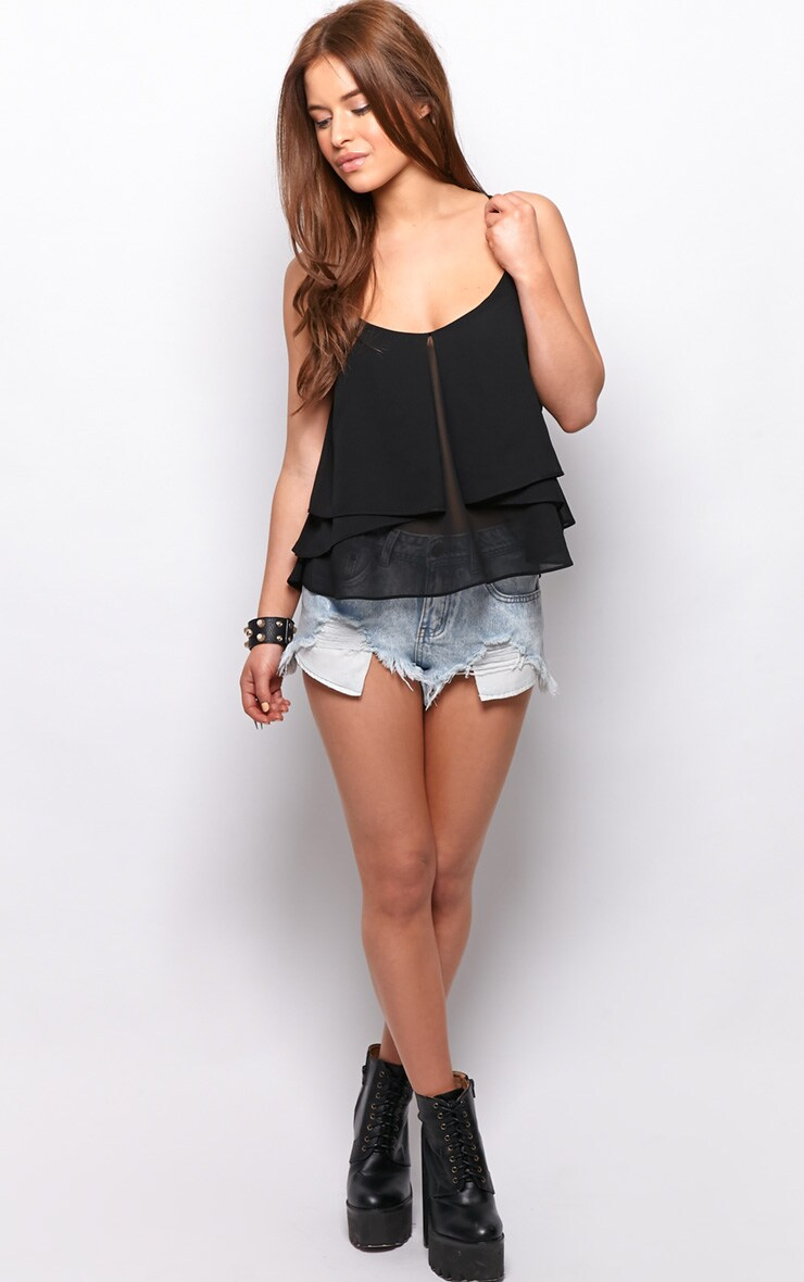 Lexie Black Chiffon Swing Vest 3