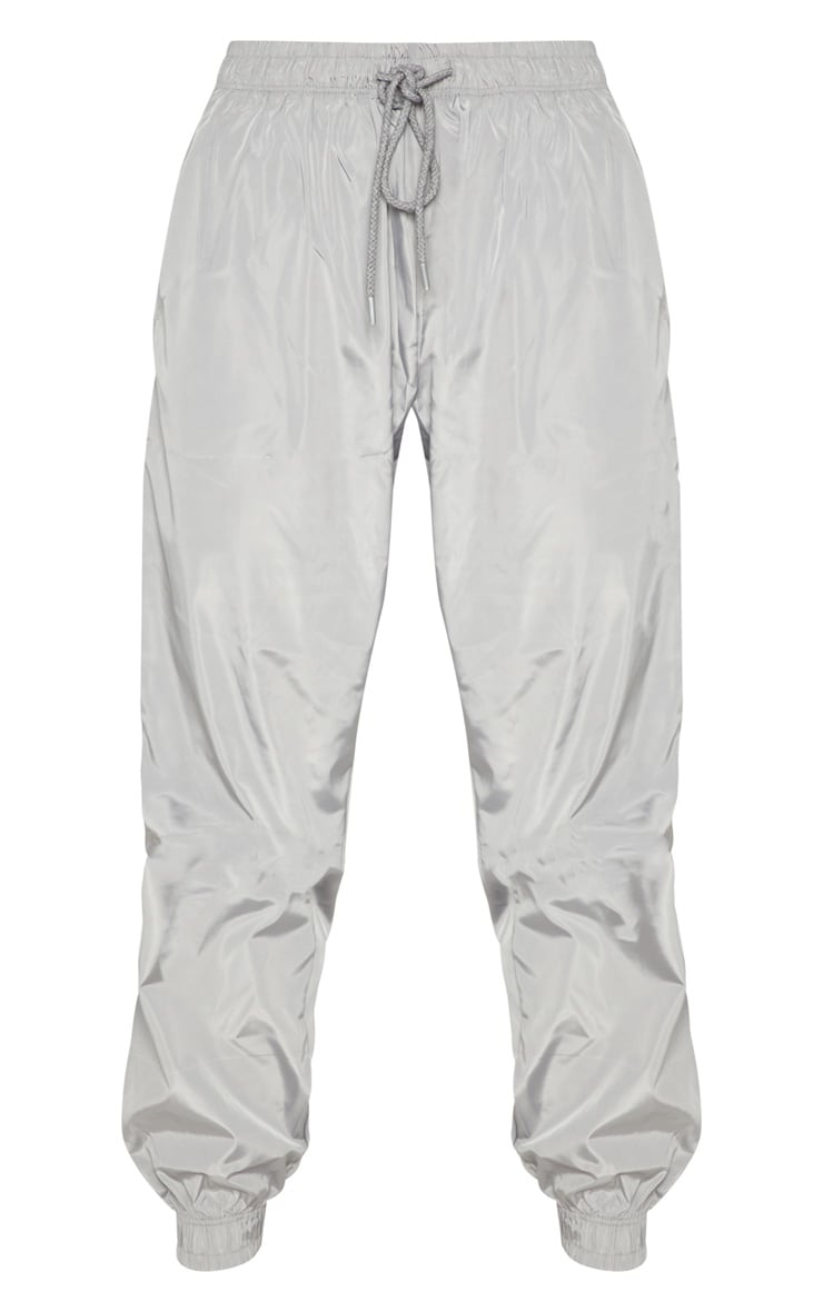 Silver Grey Drawstring Waist Shell Trouser 3