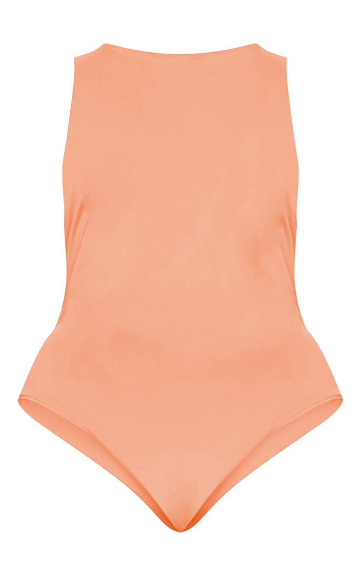 Plus Coral Slinky Wrap Detail Swimsuit 4