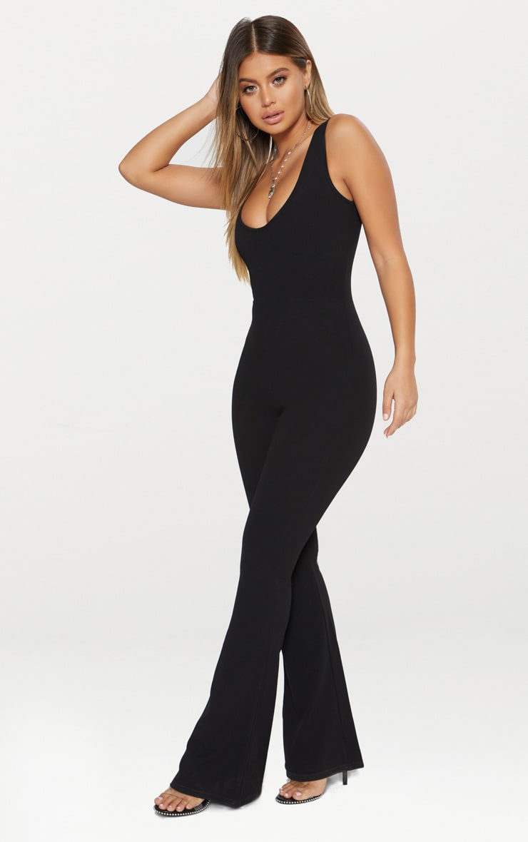 Black Bust Seam Detail Jumpsuit 3