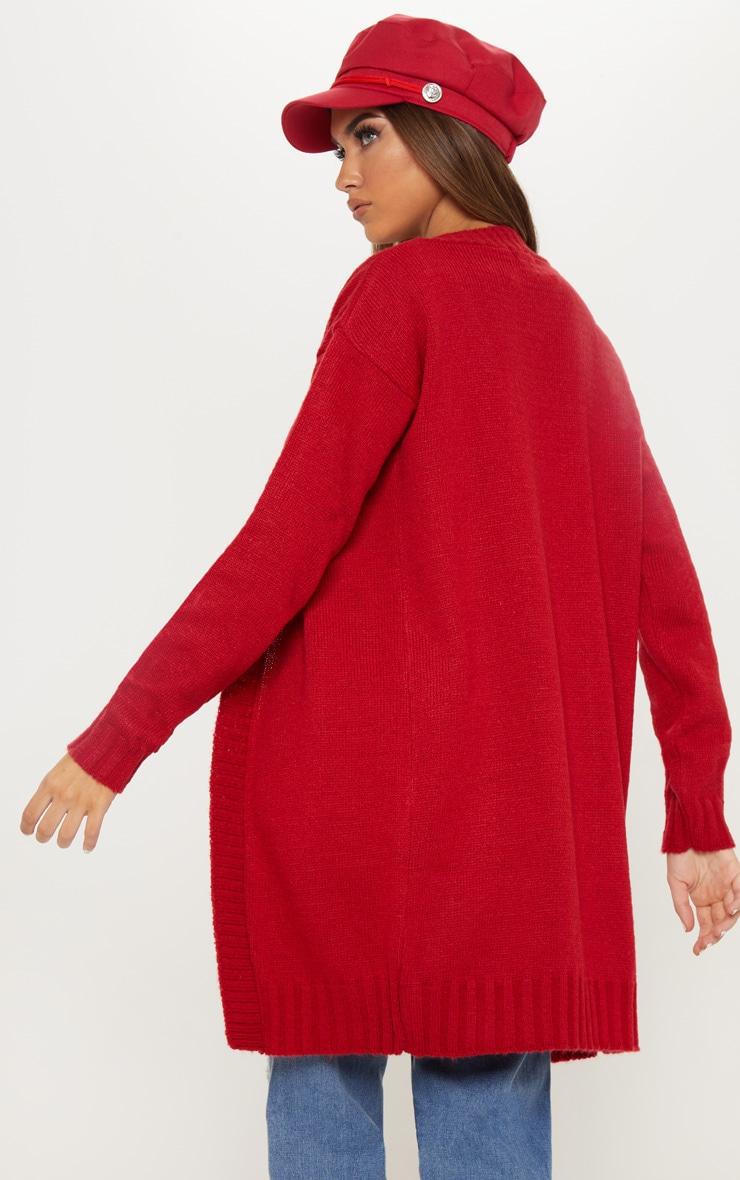 Red Knitted Laguna Yarn Cardigan 2