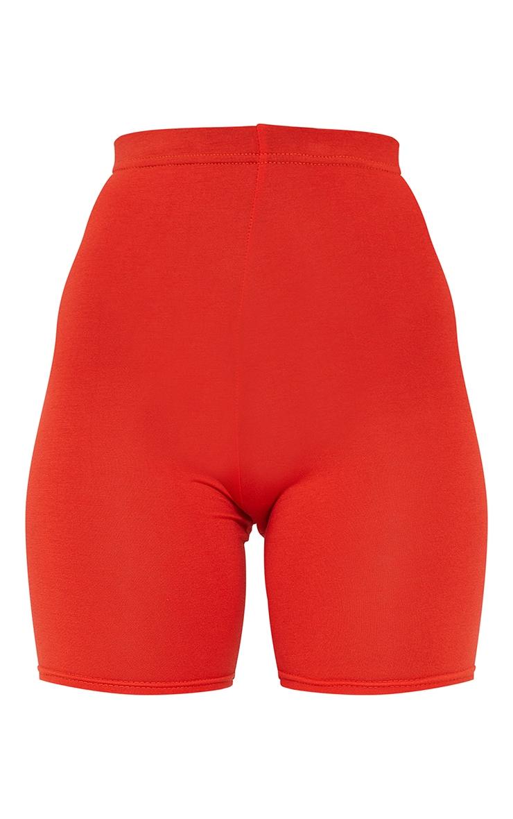 Petite Burnt Orange Basic Cycle Shorts 6